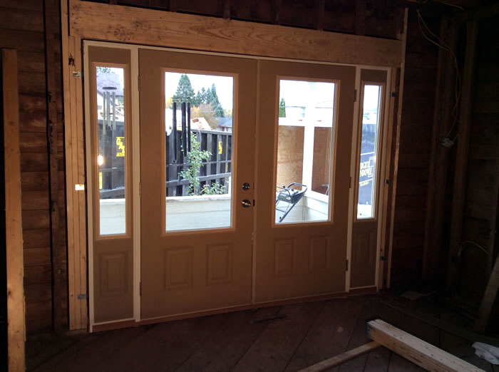 entry window installation